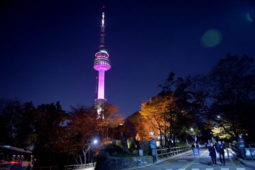 Vẻ đẹp tháp Namsan Hàn Quốc về đêm
